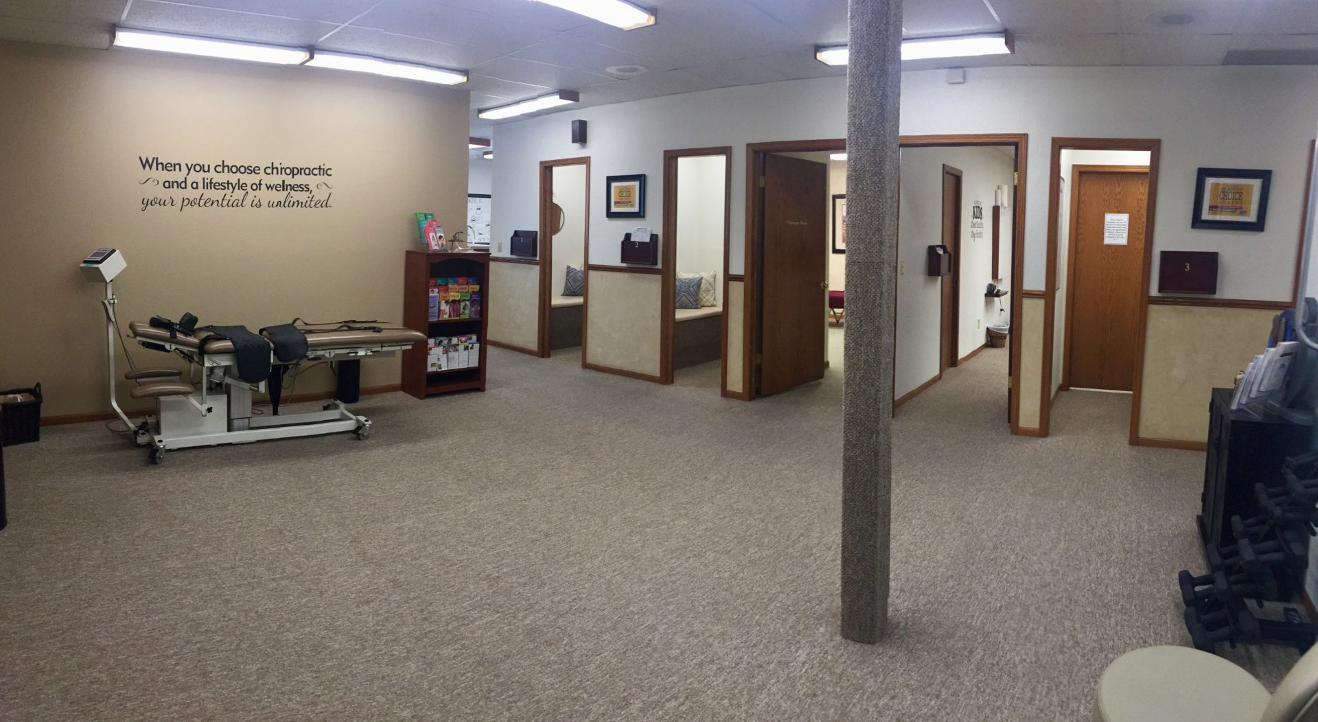 Interior of Solecki Chiropractic and Acupuncture in Greeley
